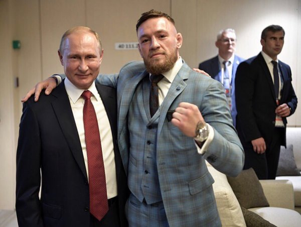 Конор Макгрегор встретился с Владимиром Путиным во время финала ЧМ-2018